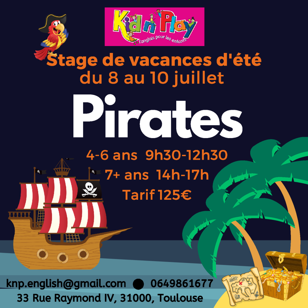 Pirate Stage anglais toulouse